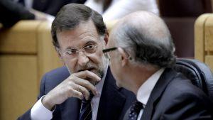 Spaniens premiärminister och budgetminister diskuterar 5 juni 2012