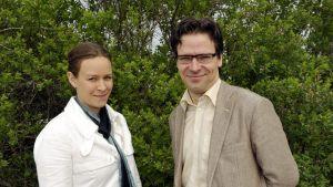 Paret vid De grönas partimöte i Åbo