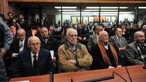 Jorge Videla (till vänster) och Reynaldo Bignone (bredvid Videla).