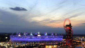 Olympiastadion i London under OS-avslutningen.