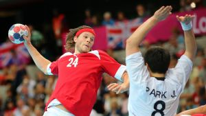Mikkel Hansen vid OS i London 2012.