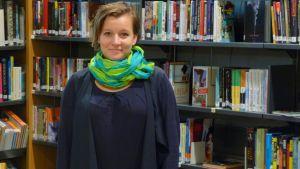 Lena Sågfors jobbar som pedagogisk informatiker vid Vasa stadsbibliotek