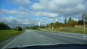 Motorvägsavtaget till Liselund i Vasa.