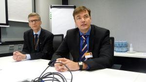 Direktör Kenneth Rönnbäck och vd Stefan Damlin