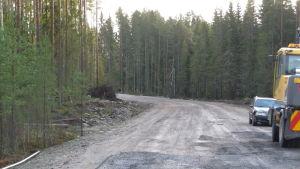 Den nybyggda vägen mot det blivande Hästsportcentret