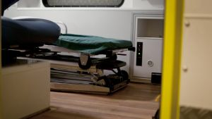 Interiör från ambulans.
