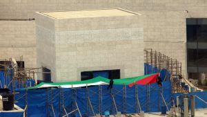 Yasser Arafats mausoleum i Muqataa, Västbanken.