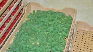 De gröna godiset smakar äppel