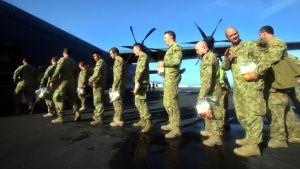 FN:s fredsbevarare från Australien lämnade Östtimor i december.