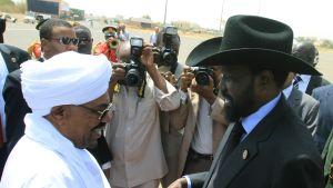 Omar al-Bashir och Salva Kiir i Sudan oktober 2011.