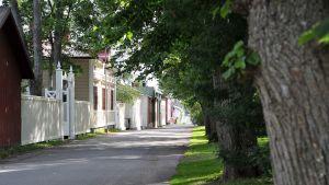 Trähusvy i Kristinestad