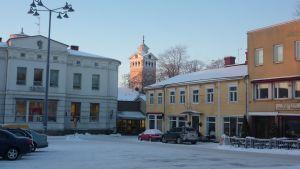 Ekenäs torg i mitten av januari 2013.