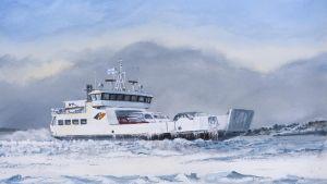 Det nya fartyget ska trafikera mellan Kotka och Pyttis