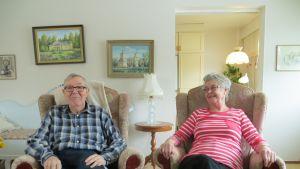 Stig och Marita Brandt i sitt hem i Jakobstad