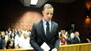 Oscar Pistorius under mordrättegången.