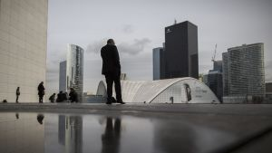 Finansdistriktet La Defense nära Paris