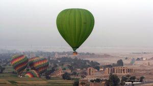 Varmluftsballonger ovanför Luxor. Arkivbild från 2009.