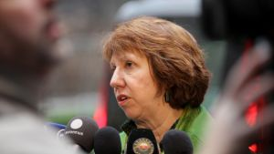 EU:s utrikesrepresentant Catherine Ashton i Bryssel 11.03.13