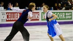 Max Lindholm och Olesia Karmi vid VM 2013.