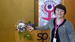 Carola Sundqvist återvaldes till Svenska Kvinnoförbundets ordförande.