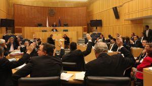 Cyperns parlament röstade