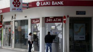 Laiki Banks kontor i Nicosia