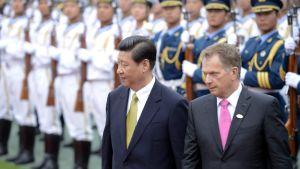 President Niinistö tas emot av Kinas president Xi Jinping