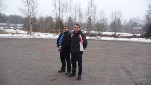 Bengt Back och Mats Åbacka i Korsnäs