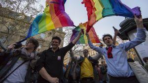 Förespråkare firade lagen om homoäktenskap