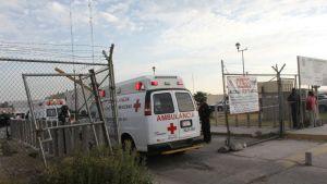 Ambulans anlände till fängelset