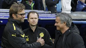 Jürgen Klopp och Jose Mourinho möttes i semifinal i Champions League 2012-2013.