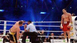 Vladimir Klitsjko vann på knockout i Mannheim den 4 maj 2013.
