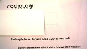 Mammografibrev på finska