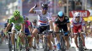Mark Cavendish slutspurtar etapp 5