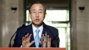 Ban Ki-moon avråder från våld