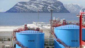 Statoils anläggning på Melkøya nära Hammerfest