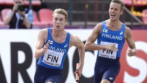 Finland 4 x 100 meter, U23-EM