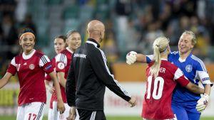 Danmark fick 1-1 mot Sverige