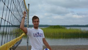Daniel Haglund är en av arrangörerna av beachvolleyturneringen Tour de Ekenäs