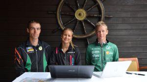 Christoffer Grangolm, Kirsi Nurmi och Christian Kronberg