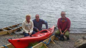 Linda och Tom Ahlbäck tillsammans med Stefan Jansson