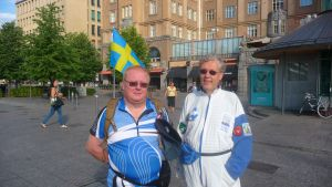 Håkan Johansson och Harry Swanljung på Wasa marsch