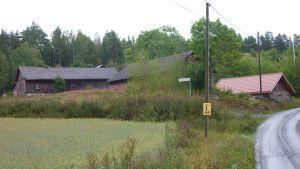Gamla byggnader i Myllykylä på Kakskerta