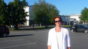 Rektor Marica Ylinen vid Yttermalax skola