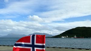 Norgeas flagga.
