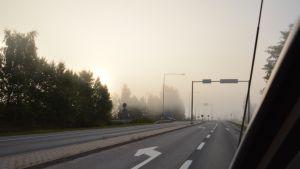 Strax innan Österbykorsningen i Ekenäs.