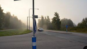 Gravljusen bevisar att Nestekorsningen har varit med om flera olyckor.
