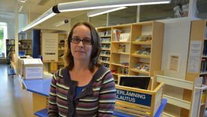 Karolina Zilliacus har nu arbetat cirka en månad som bibliotekschef i Pargas.