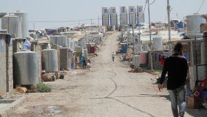 Flyktinglägret Domiz i Dohuk i Kurdistan i Irak