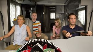 WTM, casey mathis-emma roberts, david clark-jason sudeikis, rose-jennifer aniston